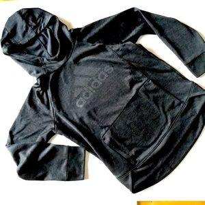 Adidas Push It Hoodie Girl's Sz M Black Shimmer